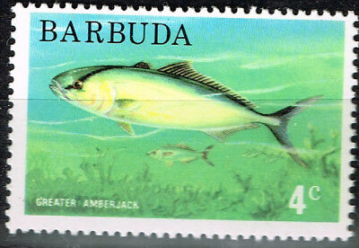 Barbuda Fauna Marine Life Greater Amberjack Fish stamp 1985 MNH