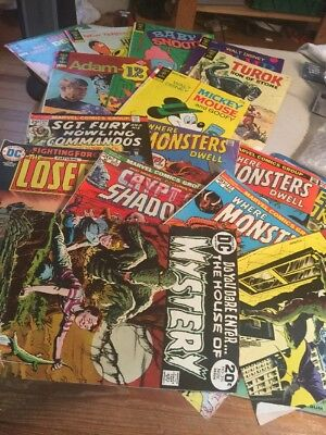 Vintage Lot Of 16 Comic Books As Shown
