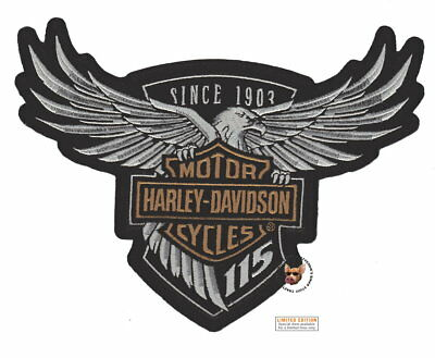 Harley Davidson 115Th Anniversary Eagle Patch  Lg Authentic Vest Jacket Patch
