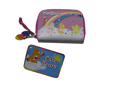 "Care Bears PINK Coin Purse 3"" x 4.5"" BRAND NEW WITH TAGS"