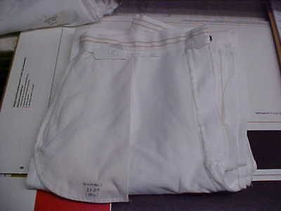 USN Navy Sea Cadet Enlisted Female Dress White Slacks 12JR Bell Bottoms loc#w27
