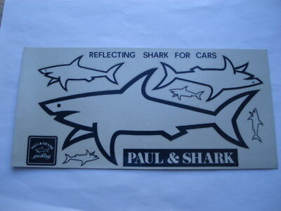 C1986 Vintage Paul&shark Reflecting Shark For Cars Unused Sheet Of Decals