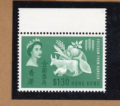Hong Kong 1963 Freedom From Hunger with top margin fresh MNH
