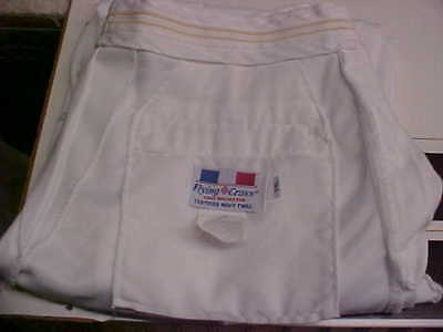 USN Navy Sea Cadet Officer Midshipman INST Male Dress White Trousers 34L loc#w77