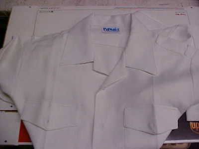 USN Navy Sea Cadet Officer Midshipman INST Male Dress White SS Shirt ML loc#w92