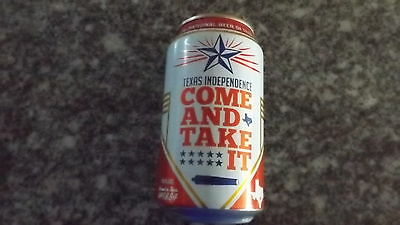 LONE STAR BEER Beer Can, 12 oz., TEXAS INDEPENDENCE 2017 COME AND TAKE IT.