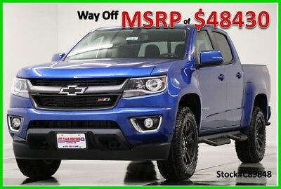 2018 Chevrolet Colorado MSRP$48430 4X4 Z71 Diesel GPS Leather Blue Crew 4WD New Navigation Heated Seats Camera Bluetooth Kinetic 17 16 2017 18 Cab Duramax