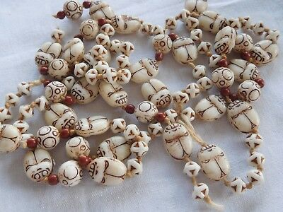Lovely Art Deco MAX Neiger Beetle Glass Bead Necklace for restringing etc