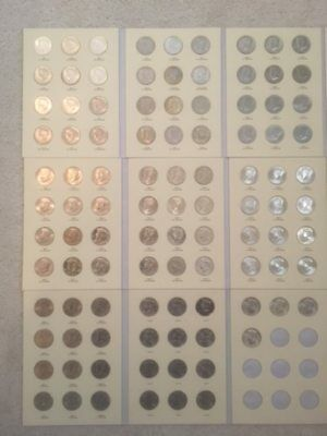 1964 - 2017 COMPLETE P & D Kennedy Half Dollars - 100 Coins - P&D Set in Albums