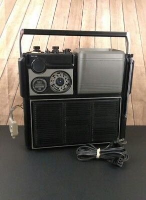 Vintage Sears Solid State Portable Go Anywhere TV AM/FM Radio Model 564 Works!!