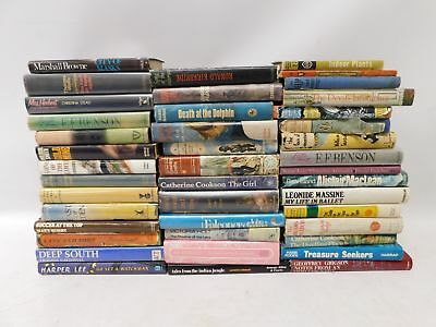Collection Of 42 20th Century Hardback Books Novels & Non Fiction Various - C23