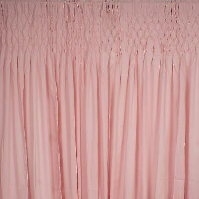 French Country Shabby Chic Curtains Smocked Top Rod Pocket Pink 2x110x240cmLong