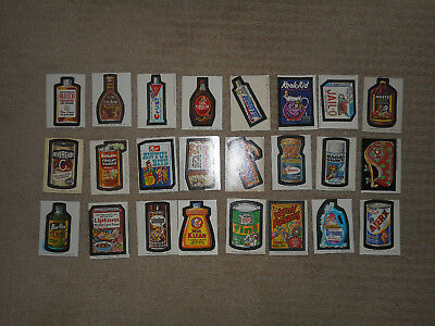 1973-75 Topps Wacky Packages Complete Series 1 Set Wonder Bread 24/24 EX