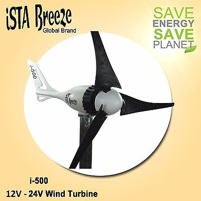 12V/24V Black Edition i-500 Wind Generator, Wind Turbine Ista-Breeze Wind Power