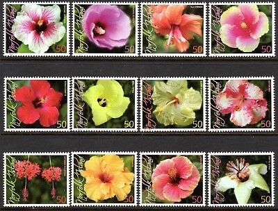 2005 NORFOLK ISLAND HIBISCUS FLOWERS SG928-939 mint unhinged
