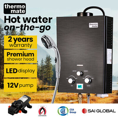 【20%OFF】Thermomate Outdoor Water Heater Gas Camping Hot Portable Tankless