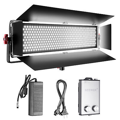 Neewer Dimmable Bi-color 140W SMD LED with U Bracket and Barndoor Video Light