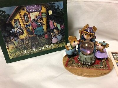 Wee Forest Folk Retired LTD Crystal Clear with Original Box, Card & Signatures