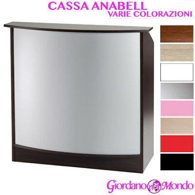 Banco Da Cassa Reception In Legno Varie Colorazioni Anabell Professionale