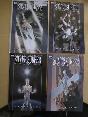 "SILVER SURFER, ""REQUIEM"" : COMPLETE 4 ISSUE SERIES by STRACZYNSKI & RIBIC. 2007"