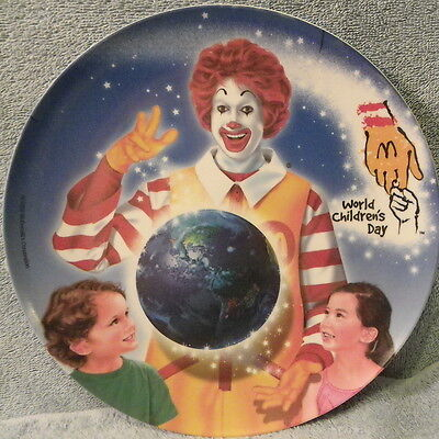McDonalds World Children's Day Plastic Plate 2002