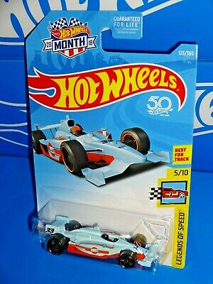 Hot Wheels 2018 Legends of Speed #123 Indy 500 Oval GULF Race Car HW Month