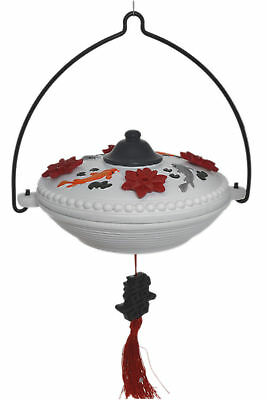 Imperial Resin Lotus Flower & Koi Asian-Style Hummingbird Feeder
