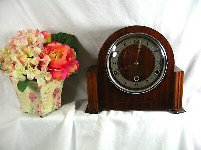 Antique Art Deco Mantel Clock British Made Westminster Chimes In Working Order