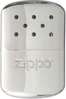 "Zippo Hand Warmer 12 Hour Chrome Knife 40323 Measures 2 5/8"" x 4"". Chrome finish"