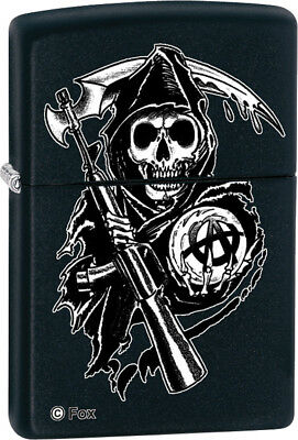 Zippo Sons of Anarchy-Grim Reaper Knife 28504 Black matte finish. Measures 2 1/4