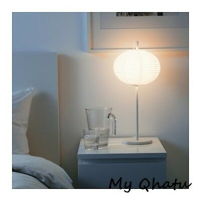 New ikea solleftea shade rice paper table lamp white modern new new ikea solleftea shade rice paper table lamp white modern new aloadofball Images