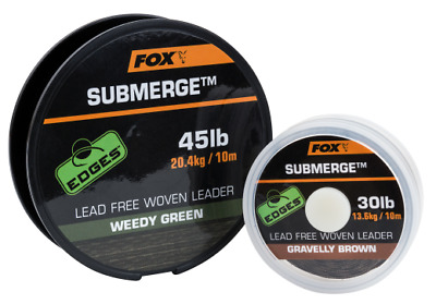 Fox Edges Submerge Lead Free Woven Leader - All Sizes