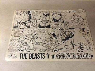VALLEY OF THE DINOSAURS #7 comic art 11 PG STORY BEASTS SNOW MOUNTAIN 1976 RARE