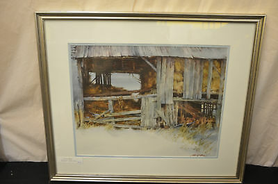 Gil DiCicco original painting barn watercolor framed art signed 1169#3