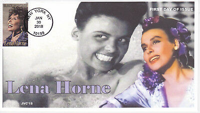 Jvc Cachets-2018 Lena Horne Issue First Day Cover Fdc Singer Actress Activist #2