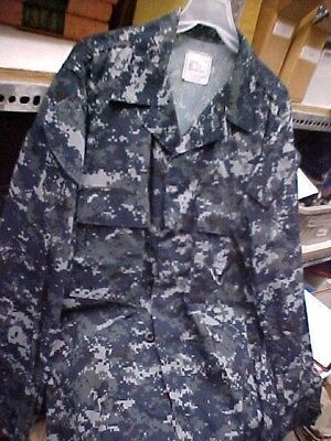 50% NWU Military Uniform USN Navy US Naval Sea Cadet Blouse Medium Long loc#u65