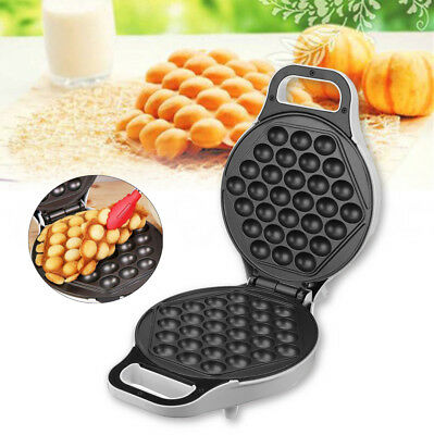 640W 220V Non Stick Electric Bubble QQ Egg Maker Oven Waffle Baker Machine Gifts