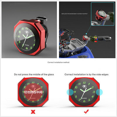 Cool Motorcycle Save Energy Modified Luminous Clock Time Alloy Gauge Waterproof