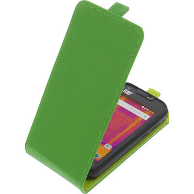new product d7a38 e6b22 CASE FOR CAT S60 Smartphone FLIPSTYLE Cellphone Bag Protector Cover Flip  Green