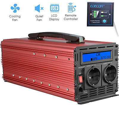 Convertisseur 3000W 6000W 12V 220V Onduleur Inverter LCD Handle Camion Rouge