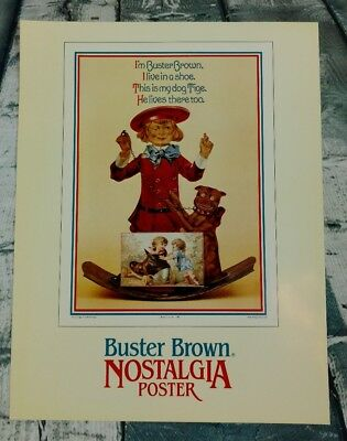 """Buster Brown Nostalgia Poster Order Advertisement For Shoe Store 8 1/2"""" X 11"""""""