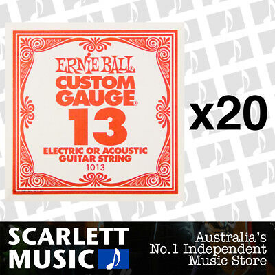 20x Ernie Ball Plain Single Guitar String .013 ( 13 / Thirteen ) *20 PACKS*