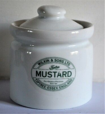 Wilkins & Sons Ltd Tiptree Pottery Ceramic Mustard Pot with Lid - Rare - 9cm