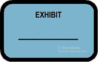 EXHIBIT Labels Stickers Blue 492 per pack Free Shipping