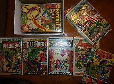 Lot-Marvel Feature 1,Defenders 10,Avengers 94,98,113,Amazing Spider-man 94,more