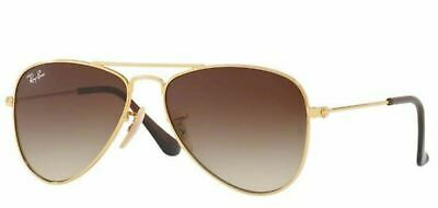 Authentic Ray Ban 0Rj9506S Junior Aviator 223/13 Gold Sunglasses