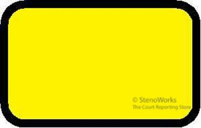 Blank Exhibit Labels Stickers Yellow  492 per pack Free Shipping
