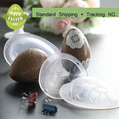 5 X Cake Craft Polycarbonate Egg Shape Mold Dinosaur Easter 3D Chocolate Mould