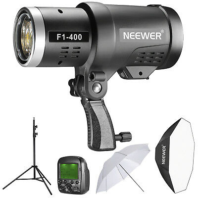 Neewer 400W 2.4G HSS Dual TTL Outdoor Flash Strobe Light Kit for Canon and Nikon