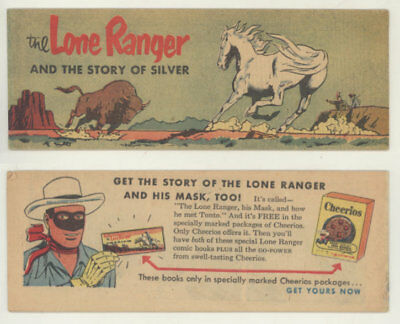 Rare 1954 Cheerios giveaway comic book THE LONE RANGER AND THE STORY OF SILVER